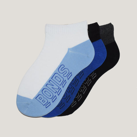 3-Pack Men, No-Show Patterned Sport Cotton socks