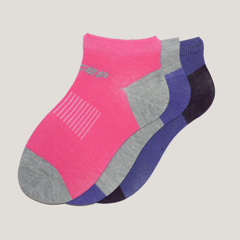 3-Pack Women No Show Patterned, Sport Cotton socks