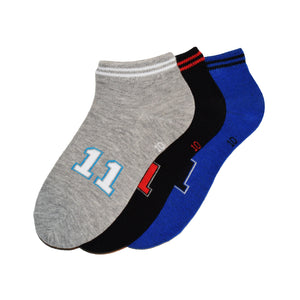 3-Pack No-Show Patterned Sport Boys Socks