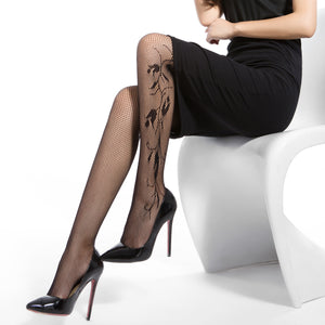 Fashion Fishnet 40 Den, Lamai Style, Reinforced Toe Pantyhose