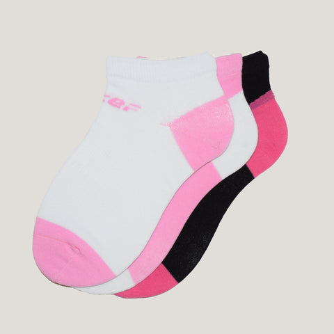 3-Pack Women No Show Patterned Sport Cotton socks