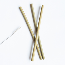 Load image into Gallery viewer, Bamboo Straw - 4 pack with Brush