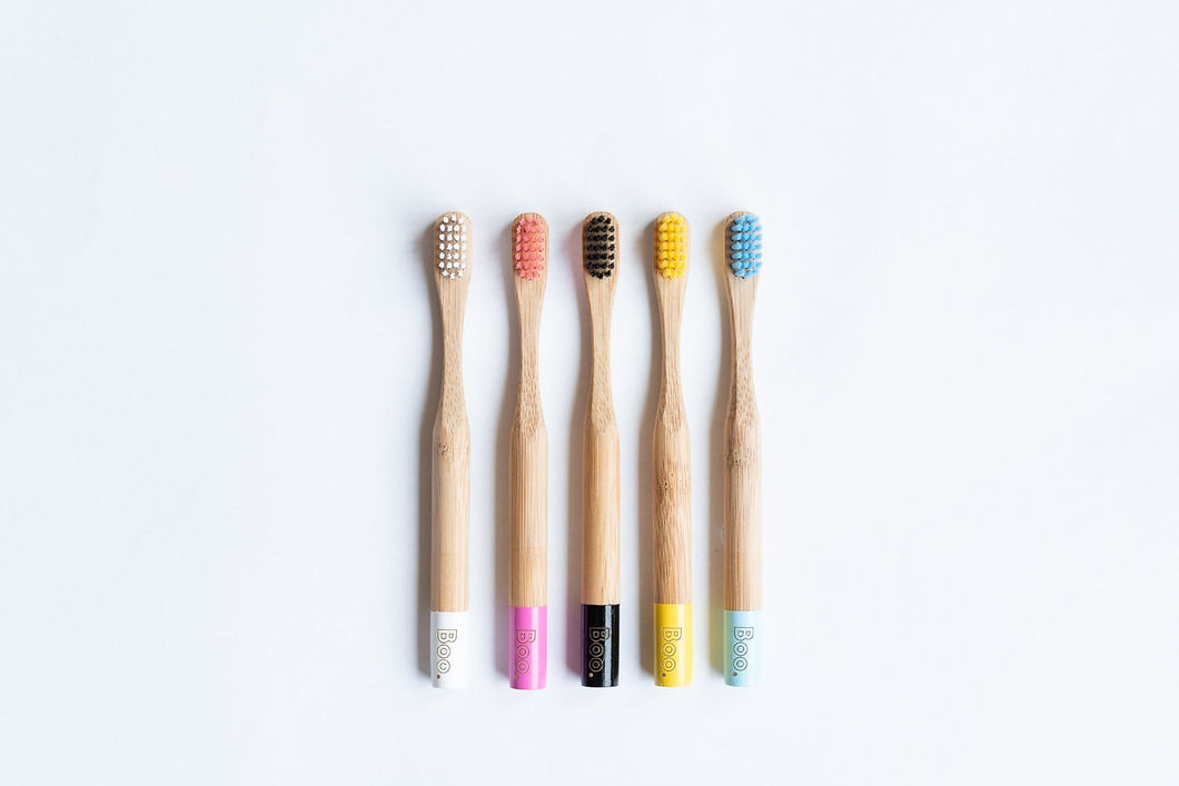 Bamboo Children's Toothbrush - 1 Year Supply (4 Pack)