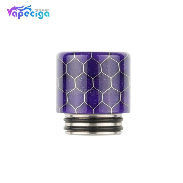 REEVAPE AS272FS Resin 810 / 510 Drip Tip Purple with Oil-splash Mesh