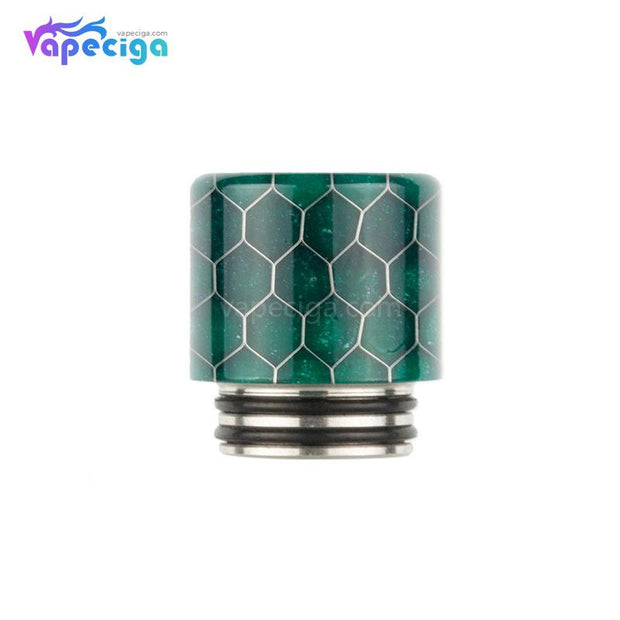 REEVAPE AS272FS Resin 810 / 510 Drip Tip Dark Green with Oil-splash Mesh