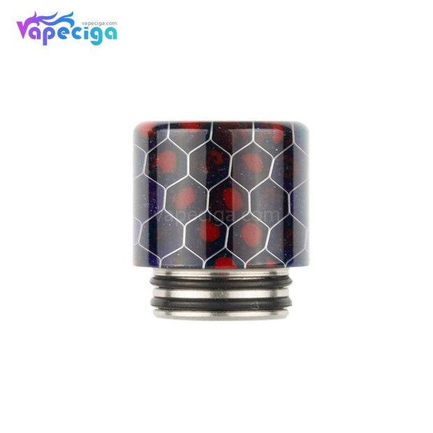 REEVAPE AS272FS Resin 810 / 510 Drip Tip Black Red with Oil-splash Mesh