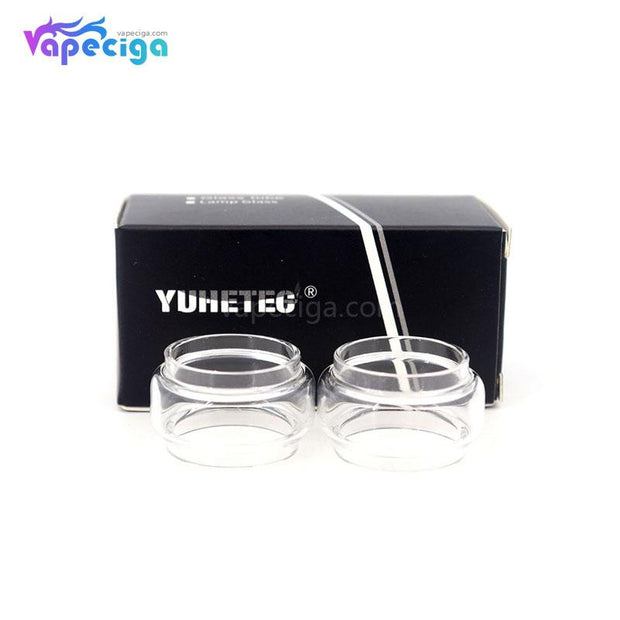 YUHETEC Transparent Replacement Fatboy Glass Tank Tube for Smok TFV8 Baby V2 2PCs Display