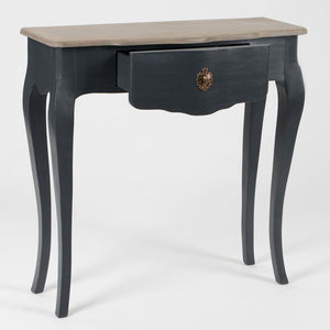 French noir black Celestine narrow console table