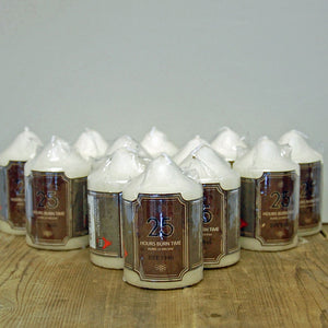 Set Of 12 Church Pillar non drip unscented candle 25 Hour burn time