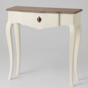 French ivory Celestine narrow console table