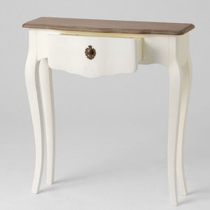 French short ivory Celestine narrow console table