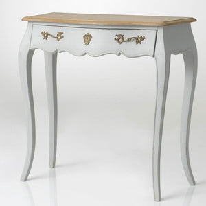 French Murano pale grey slim console table