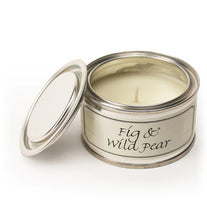 Pintail scented candle filled tin fig and wild pear fragrance