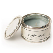 Pintail scented candle filled tin Driftwood fragrance