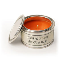 Pintail scented candle filled tin Cinnamon & Orange fragrance