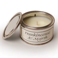 Pintail scented Christmas candle filled tin Frankincense & Myrrh fragrance