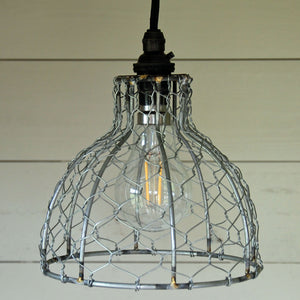 Contemporary bell chicken wire pendant light shade
