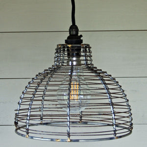 Contemporary design dome wire pendant light shade 200mm