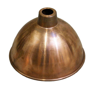 Canterbury antique copper finish domed  215 mm pendant ceiling shade