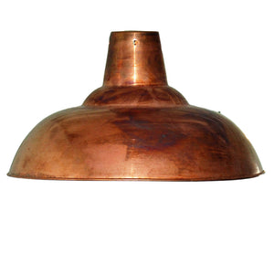 Large retro antique copper pendant ceiling light shade 360mm