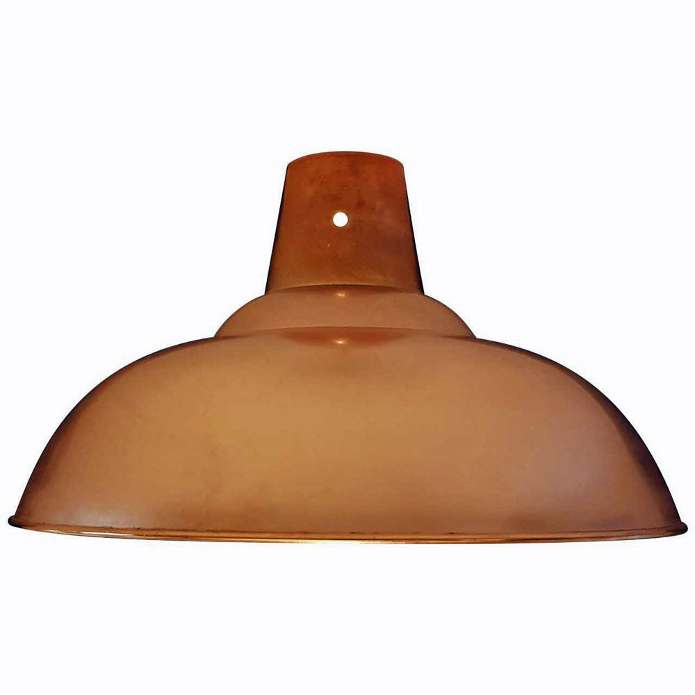 Retro Polished Copper Pendant Ceiling Light Shade 280mm