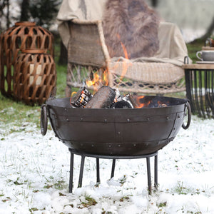 Indian Iron Fire Pit for Outdoors