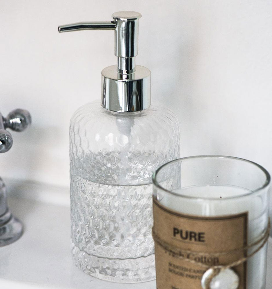 Iona glass soap dispenser