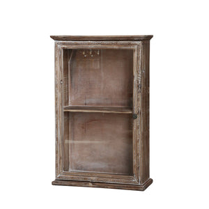 French Rustic Chic Wooden Wall Cupboard