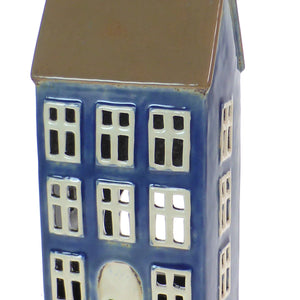 Tall Copenhagen Ceramic Tea Light House