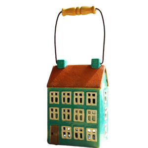 Three Storey Ceramic Tea Light House Lantern