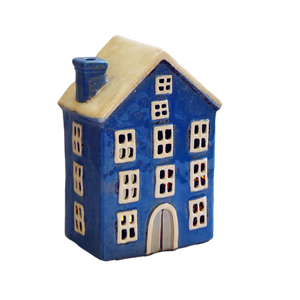 Dutch House Ceramic Tea Light Holder