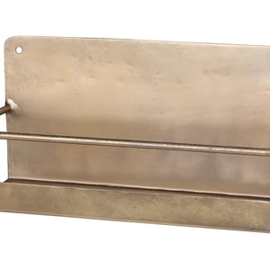 Danish Brass Metal Wall Shelf