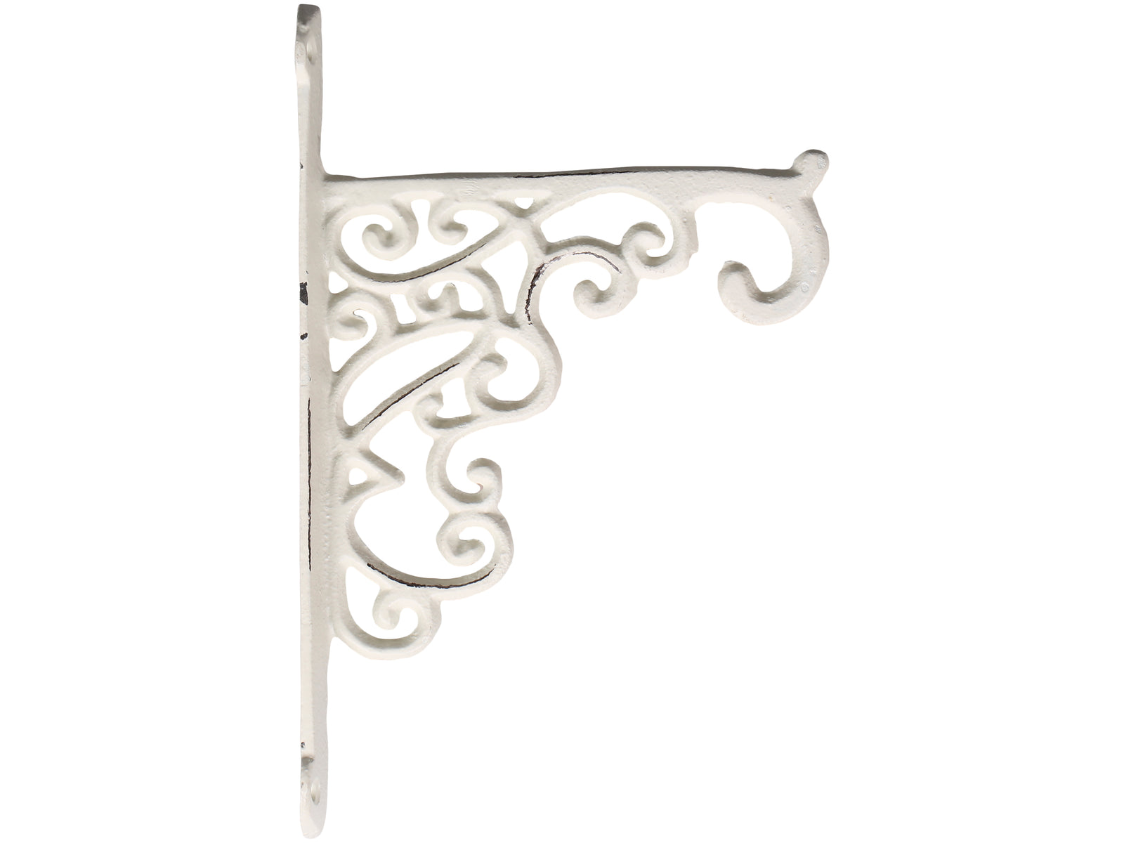 French antique blanc wall shelf bracket