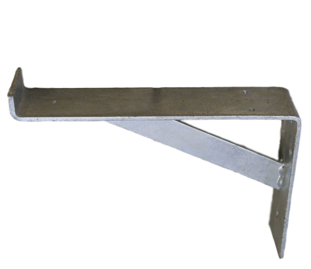 Industrial galvanised metal shelf bracket support 230mm