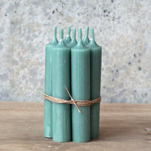 Hand Tied Bundle Danish Verte Short Dinner Candle