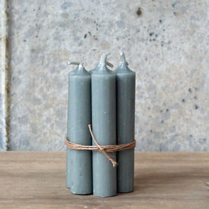 Hand Tied Bundle Danish Light Grey Short Dinner Candle