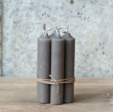 Hand Tied Bundle Danish Linen Short Dinner Candle