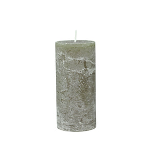 Danish Rustic Single Wick Olive Pillar Candle
