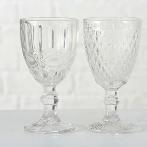Aurora embossed wine glass