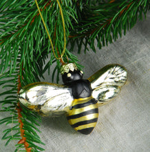 Laquered glass bumble bee tree decoration
