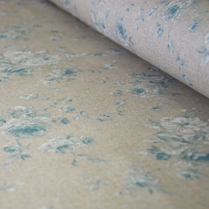 Classic Blue Cabbage Tea Rose Linen Oilcloth