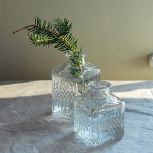 Vintage Ink Bottle Glass Flower Vase