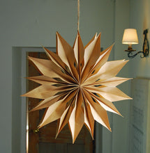 Scandi hanging snowflake decoration
