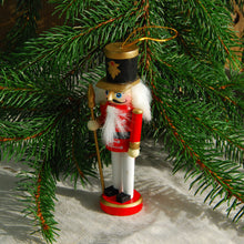 Traditional wooden Nutcracker soldier tree decoration