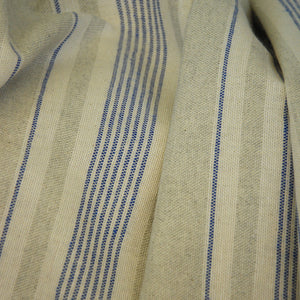 Oxon blue woven linen double width curtain and upholstery fabric