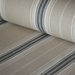 Oxford stripe machine washable linen oilcloth