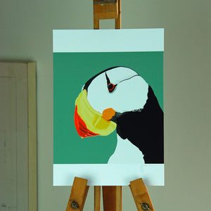 Puffin Portrait Poster Print