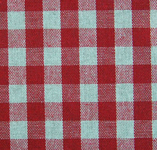 Oilcloth Table Linen Fabric Gustavian red gingham 10mm check