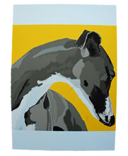 Single Greyhound Portrait Poster Print