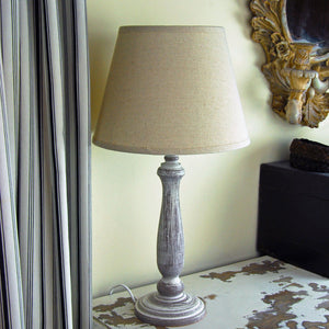 Stamford table lamp with linen shade